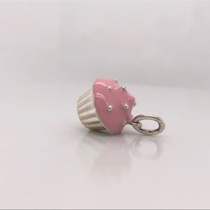 Tiffany & Co. Jewelry - Tiffany & Co sterling silver Pink Enamel Cupcake